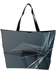 Snoogg Abstract Clock Designer Waterproof Bag Made Of High Strength Nylon