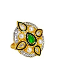 Orne Jewels Kundan Cocktail Ring For Women