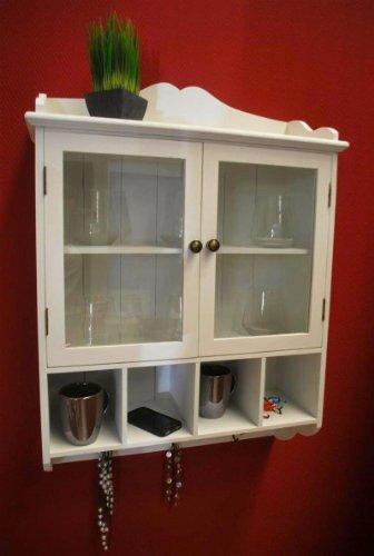 pelipal badm bel testen regal wandregal k chenregal schrank antik wei h ngeschrank. Black Bedroom Furniture Sets. Home Design Ideas