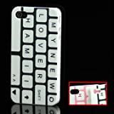 "iProtect ORIGINAL RETRO STYLE HIGHCLASS TASTATUR / KEYBOARD MUSTER CASE BLACK / SCHWARZ / WEISS F�R DAS IPHONE 4von ""iprotect"""