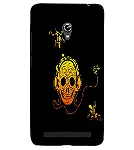ASUS ZENFONE 6 A601CG SKULL HEADPHONE Back Cover by PRINTSWAG