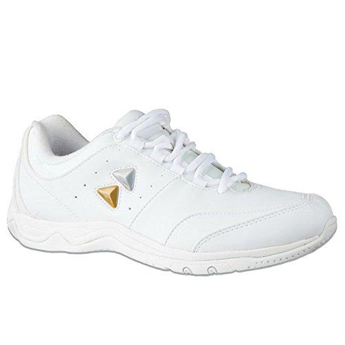 kaepa toss womens cheerleading shoe white size 8 5 b