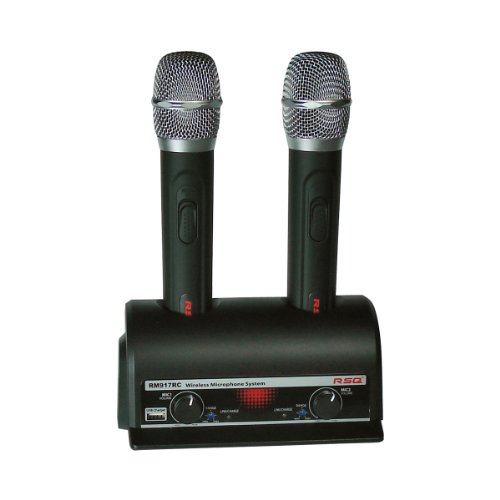 Rsq Uhf-Rm-917 Dual Rechargeable Wireless Professional Microphone