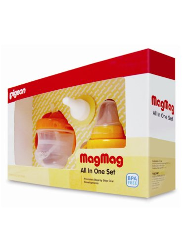 Pigeon MagMag Baby Drinking Cup All in One Set Step 1, 2, 3 - 1