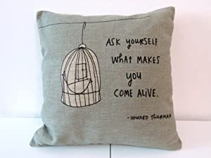 Throw Pillow Covers With Sayings : Amazon.com - Decorbox Cotton Linen Square Throw Pillow Case Decorative Cushion Cover Pillowcase ...
