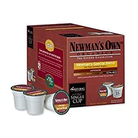 Keurig 15555 Newman's Own Organic Special Blend K-Cups Extra Bold Coffee