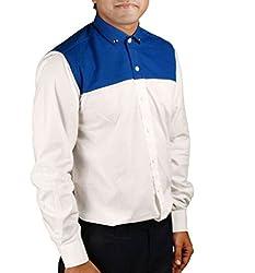 Riverbero Men's Casual Shirt (SN_BFS_228_White_40)