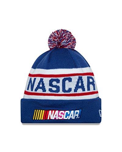 nascar-branded-item-biggest-fan-redux-pom-knit-beanie-one-size-blue