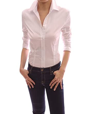 27 excellent fitted womens dress shirts for Womens button down shirts fitted