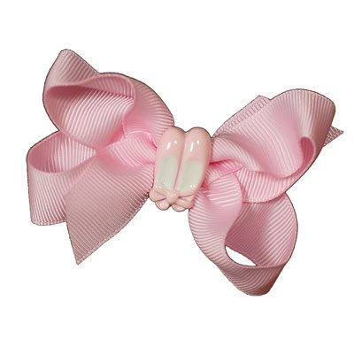 Boutique Baby Girl Accessory Grosgrain BARRETTE BALLERINA Hair Bow