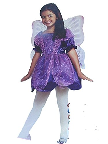 Rubies Halloween Little Girls Purple Fairy Costume w/ Wings Small Purple 3-4 Years