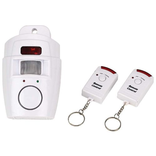 Motion Sensor Alarm Set with 2 Keychain Remotes