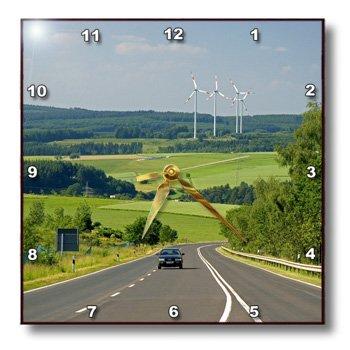 Dpp_81779_2 Danita Delimont - Energy - Electricity Generators, Cars, Energy, Germany - Eu10 Dfr0133 - David R. Frazier - Wall Clocks - 13X13 Wall Clock
