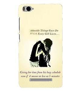 PRINTSHOPPII LOVE QUOTES Back Case Cover for Xiaomi Redmi MI 4C::Xiaomi Mi 4C