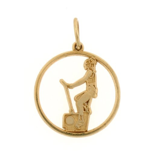 14kt Yellow Gold Excersize Bike Pendant