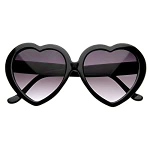 black heart shaped eye wear