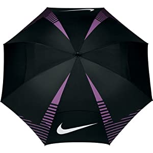 Nike Golf 2014 62 Inch WindSheer Lite Umbrella Black White Violet Shade by Nike