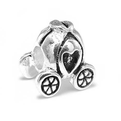 Pumpkin Princess Carriage European Bead Charm, Pandora Bead & Bracelet Compatible