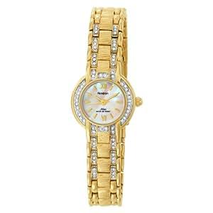 Armitron Women's 753581MPGP NOW Swarovski Crystal Accented Gold-Tone Dress Watch