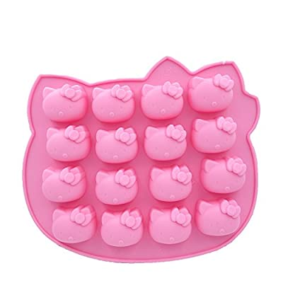 Verdant Candy Molds, Chocolate Molds, Silicone Molds, Soap Molds, Silicone Baking Molds-16pcs Kitty