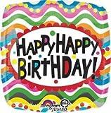 Anagram International Hx Jmb Birthday Squiggles Balloon, 28