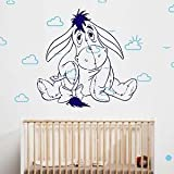 Iconic Stickers - Eeyore Whinnie Pooh Disney Wall Sticker Home Design Decal Transfer Stencil K18 - As Pictured - Size: Small - Colour: Black