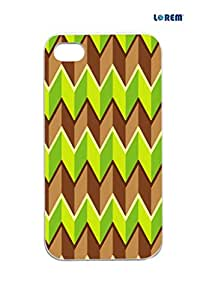 Lorem Back Cover For Apple iPhone 4/4S -Multicolor-L13929