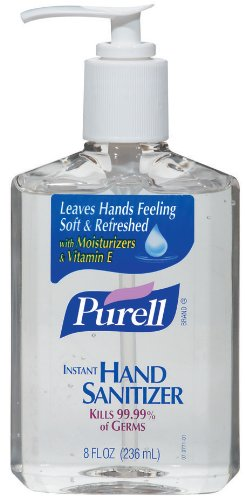 Purell Instant Hand Sanitizer, 8-Ounce Bottles (Pack of 6), Package may vary