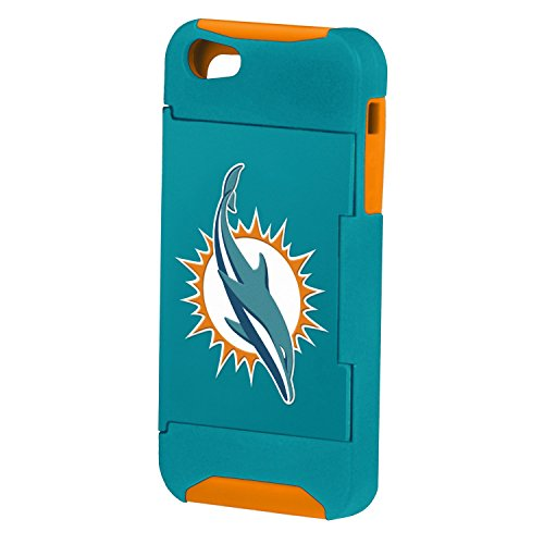 Forever Collectibles Nfl Hideaway Credit Card Iphone 5 Hard Case - Retail Packaging - Miami Dolphins