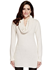 Per Una Sparkle Cowl Neck Knitted Tunic