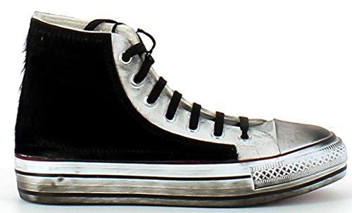 ROMA6 FRANCESCOMILANO Sneaker donna (38, Nero)