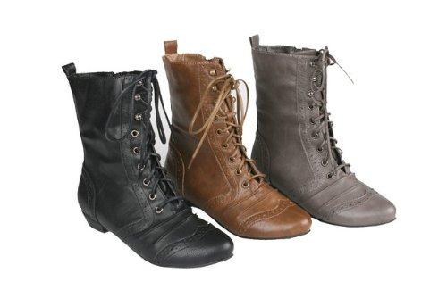 Combat Boots No Heel - Boot Hto