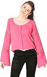 Unimod Women's Cotton Regular Fit Top (U005_Coral_L, Coral, L)