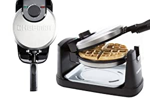Chefman RJ03-RO Rotating Round Belgian Waffle Maker by Chefman