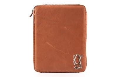 John Galliano smart cover case apple ipad 3 4 in leather brown
