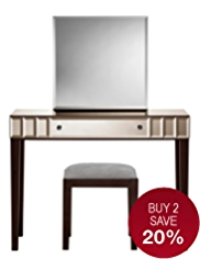 Sloane Dressing Table, Mirror & Stool Set