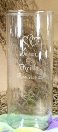 Personalized Cylinder Shaped Glass Flower Vase