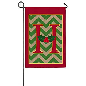 Holy Monogram Garden Flag Letter H Patio