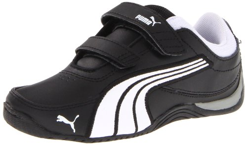 Puma Drift Cat 4 L V Sneaker (Infant/Toddler/Little Kid/Big Kid),Black/White/Black,7 M US Toddler