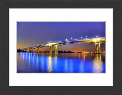 framed-print-of-gateway-bridge-at-dawn-brisbane-australia