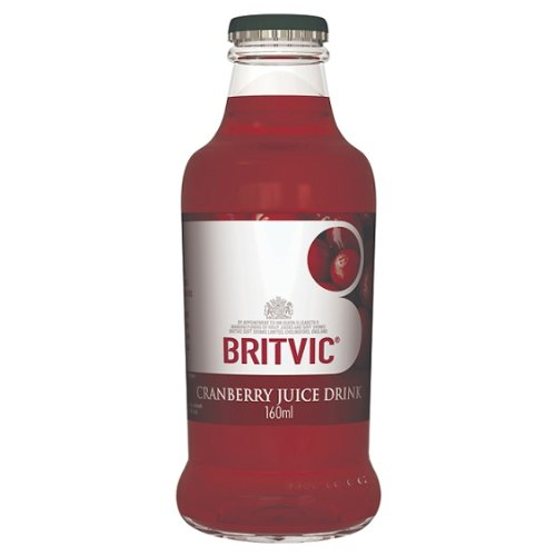 Britvic Cranberry Juice 24x160ml Glass Bottles