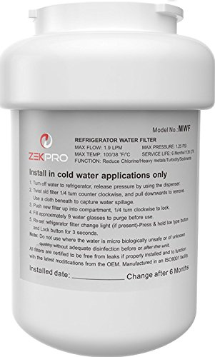 GE Refrigerator Water Filter MWF [Multi-Compatible] - Premium Quality Smartwater Replacement Cartridges Compatible GE , MWFA, GWF, GWF01, GWFA, and GWF06 -Best Refrigerator Water Filter [White] (Smart Refridgerator compare prices)