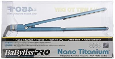 BaBylissPRO Nano Titanium-Plated Wet-to-Dry Ultra-thin Straightening Iron, 1.5 Inch
