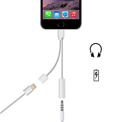 First2savvv plata 3.5 mm Headphone Jack a conector Lightning a AUX cargador Cable adaptador Cable de extensión de carga para Apple iPhone 7, 7 Plus XX-USB-I7-BB16