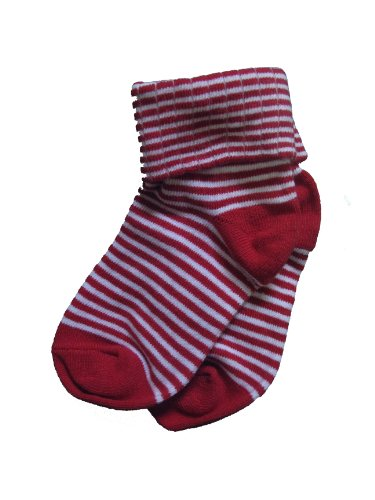 Jrp Baby Collection, Childrens Striped Comfy Socks (5-6 (Shoe Size: 4-8), Red/White) front-939061