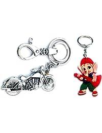 Parrk Bullet BIke & Rubber Ganesh Key Chain
