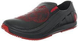 MOZO Men\'s Red Skull Work Shoe,Black,11 M US