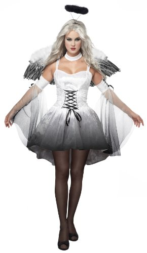 California Costumes Women's Platium Collection - Angel Of Darkness Adult