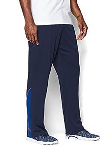 Under Armour Men's Reflex Warm-Up Pants, Academy/Cobalt/Bolt Orange, 2XLarge