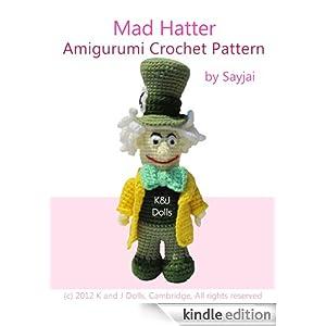 Mad Hatter Amigurumi : Mad Hatter Amigurumi Crochet Pattern (Alice in Wonderland ...
